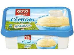 Walls Cream Of Cornish Ice Cream 1Lt, £1.00 @ Farmfoods