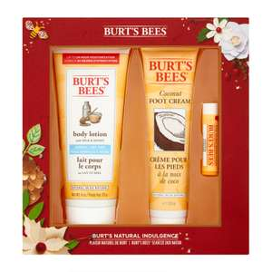 Burt's Bees Natural Indulgence Gift Set £10.00 (50% off) & 3 for 2 @ Feel Unique - Free Delivery £15 Spend