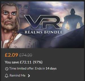 VR Realms Bundle (steam) 10 VR Games for Oculus Rift & HTC Vive £2.09 @ fanatical
