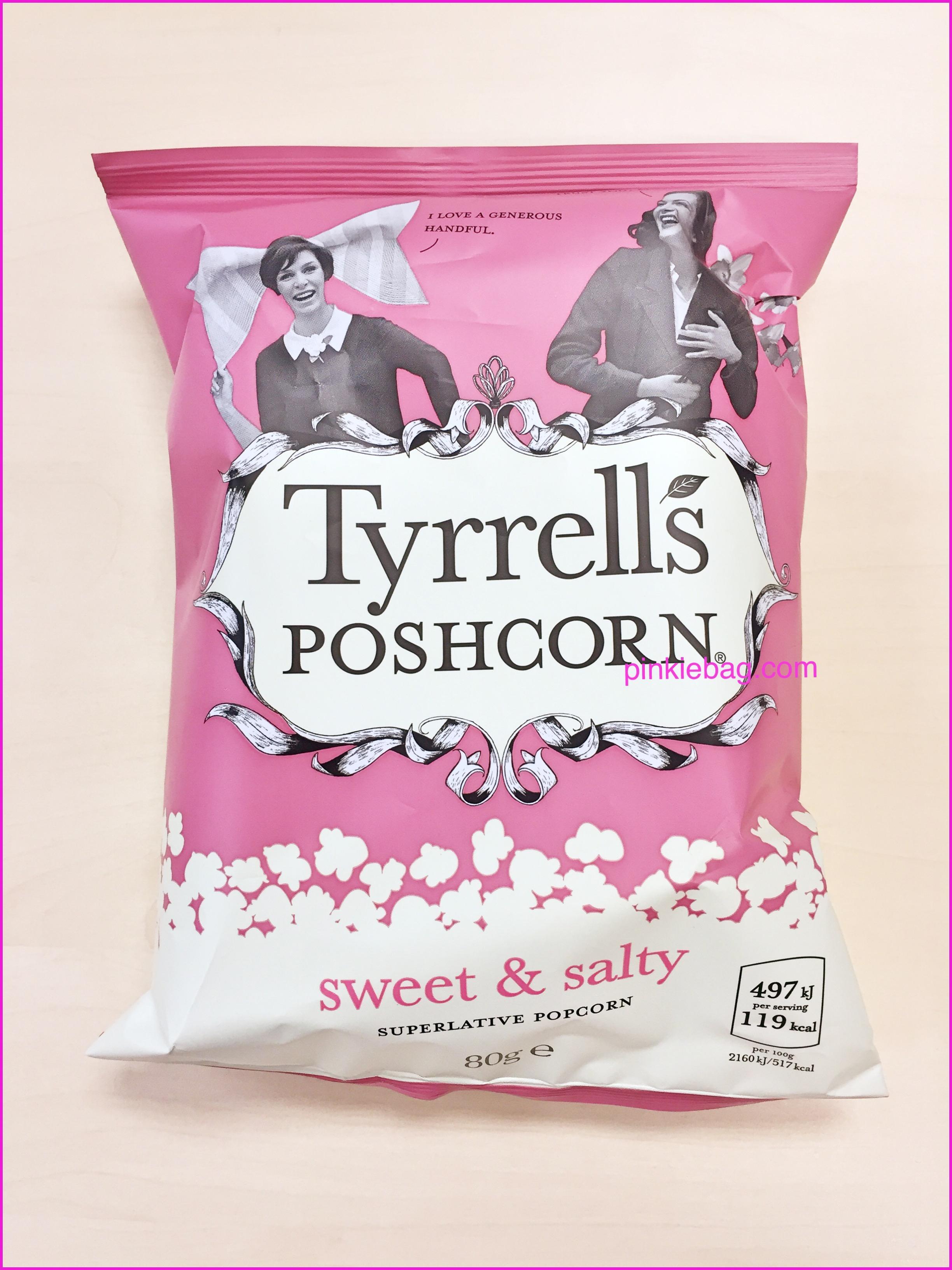 Tyrell's PoshCorn Sweet & Salty 80g Popcorn 49p in Heron