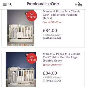 Mamas and papas cot beds REDUCED to 84.00 @ Precious Little One