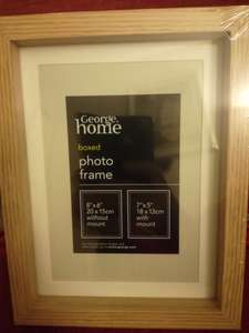 Boxed photo frame with mount, Asda £1 instore