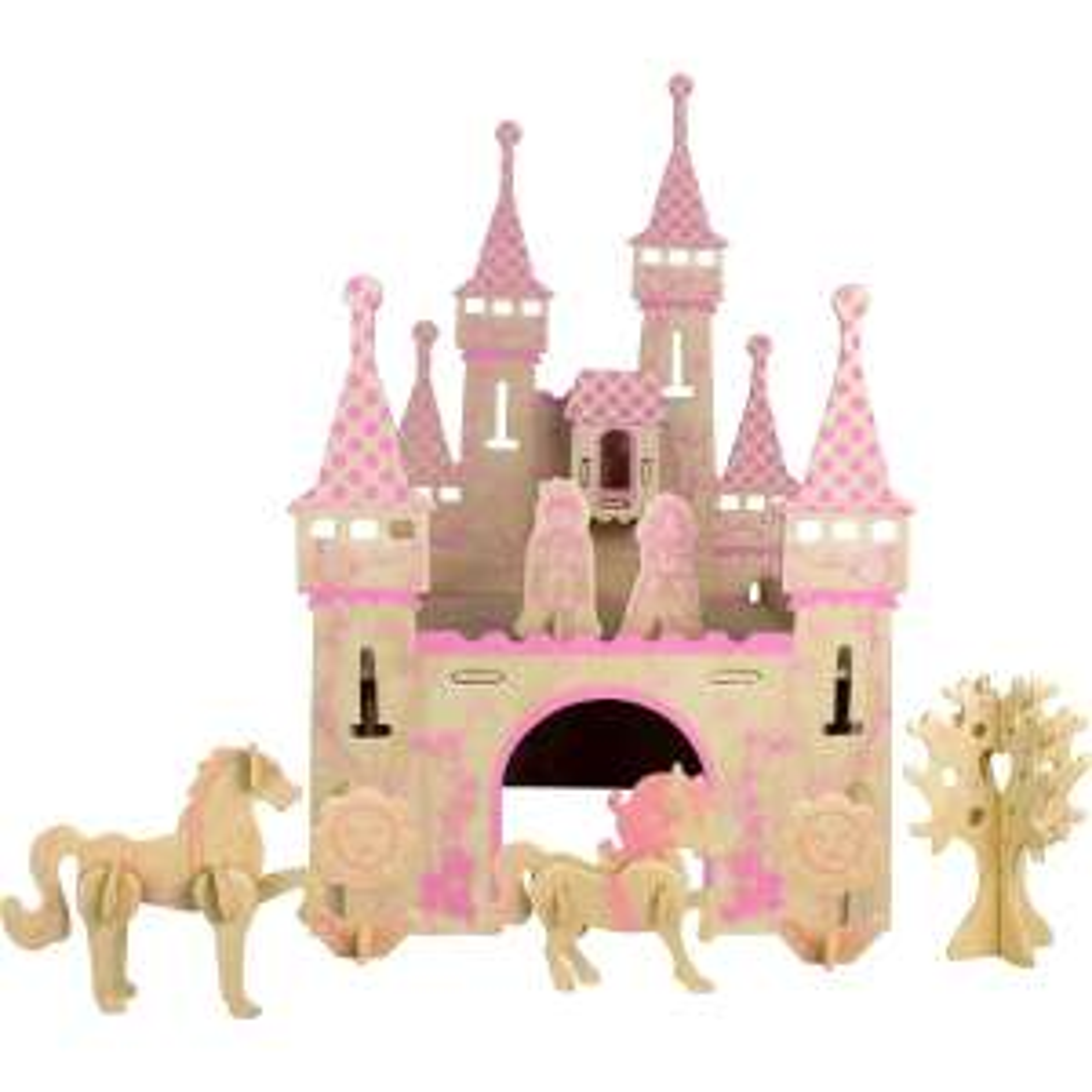 HobbyCraft 3D Wooden Castle Puzzle half price £3.25 Instore & Online