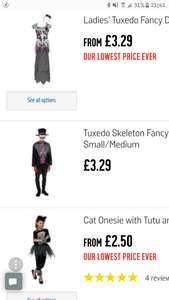 Fancy Dress Clearance at Argos Kids, men and ladies costumes (kids mostly) + Free click and collect from £1.49