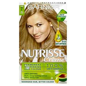 Garnier Nutrisse 7 Dark Blonde Permanent Hair Dye Pack of 3 + Free Delivery for Prime Members at Amazon