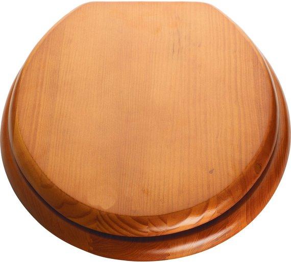 Moulded wood antique pine - mahogany toilet seat £7.49 @ Argos