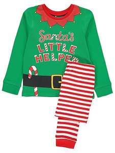 Santa's little helper elf pyjamas £4 age 7-8, 9-10 £4 @ Asdageorge
