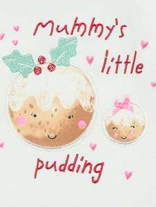Mummy's little pudding pyjamas first size,0-3 months £4 @ Asdageorge