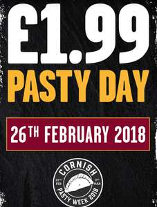 TODAY ONLY - West Cornwall Pasty Co. £1.99 for ANY PASTY ANY SIZE