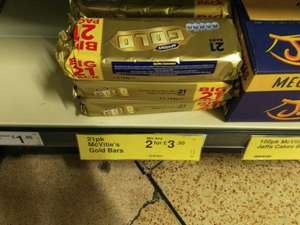 42 McVitie's Gold Bars £3.50 @ Farmfoods in store