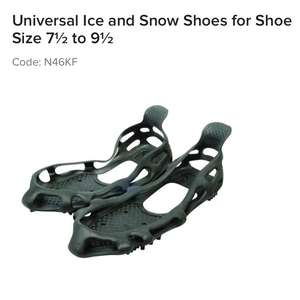 Universal Ice and Snow Shoes for Shoe Size 7½ to 9½ 45p @ Maplin