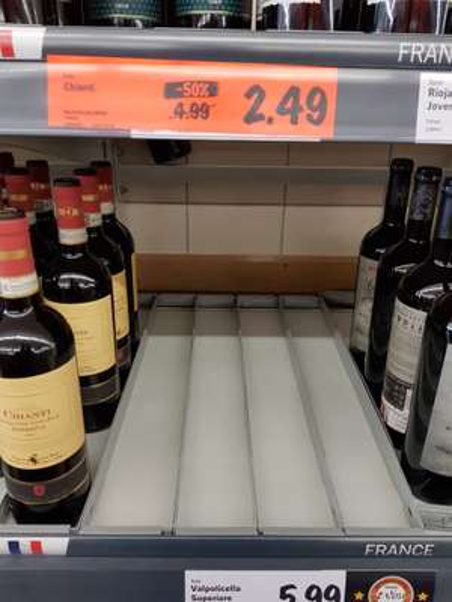 Lidl chianti half price £2.49