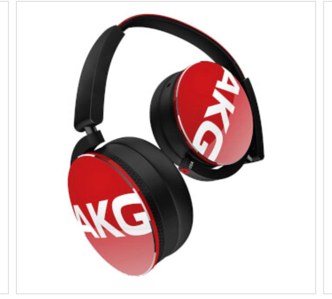 AKG Y50 PORTABLE FOLDABLE ON EAR HEADPHONES - RED , delivered £39.99 @Zavvi
