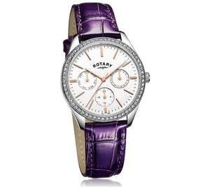 Rotary Ladies' Multi Dial Purple Strap Watch - £38.99 @ Argos