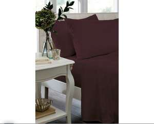 Non Iron Plum Fitted Single Sheet - £1.99 @ Argos