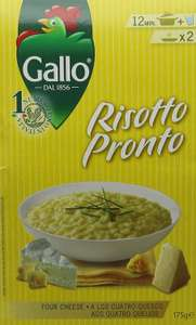 Gallo Risotto Pronto 4 Cheese 175 g (Pack of 6) Amazon add on item or S&S - £4.87