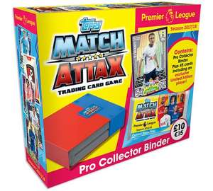 Match attax swap and store 17\18,file with storage box & cards now £7.99 @ Argos
