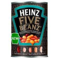 Heinz Five Beans In Tomato Sauce 415G – 5 for £3 @Tesco