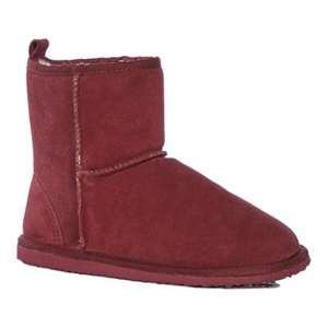 Lounge & Sleep-Maroon red suede & Navy suede slipper boots + Free Delivery with code SH4Z at Debenhams