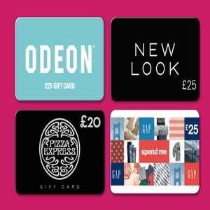20% off selected gift cards - New Look -  Gap - Odeon - Pizza Express @ Tesco