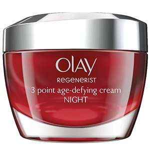 Olay Regenerist 3 Point Firming Anti-Ageing Night Cream Moisturiser for Firm Skin (50 ml) £12.99 (Prime) / £16.98 (Non-Prime) @ Amazon