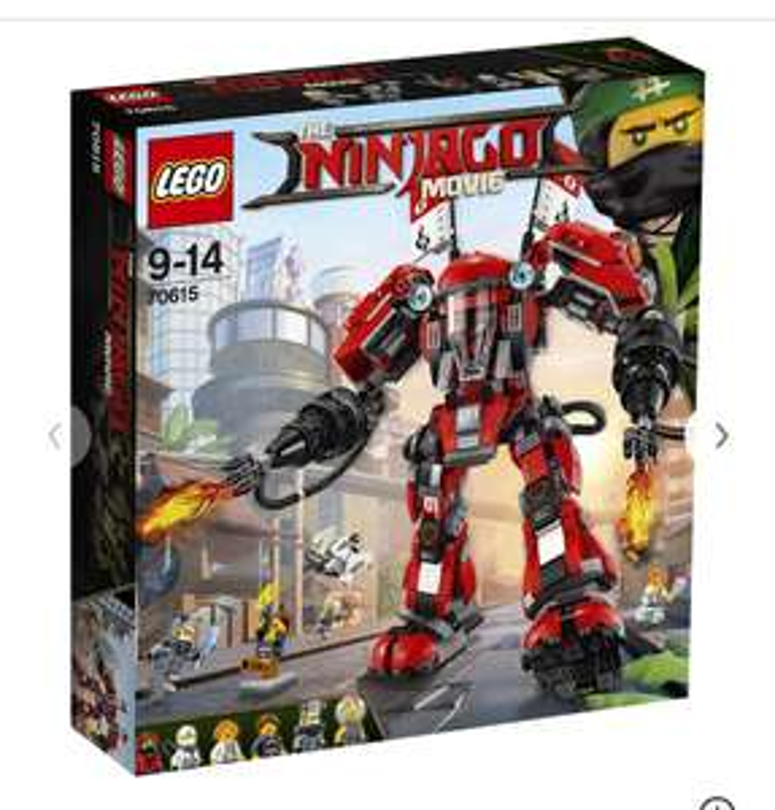 Lego Ninjago Movie Fire Mech Toy, £34.99 (with code LEGO5) @ Argos free c&c