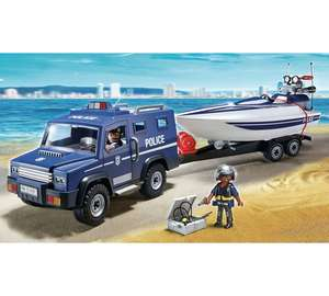 Playmobil 5187 police truck- trailer & speedboat set £12.99 @ Argos