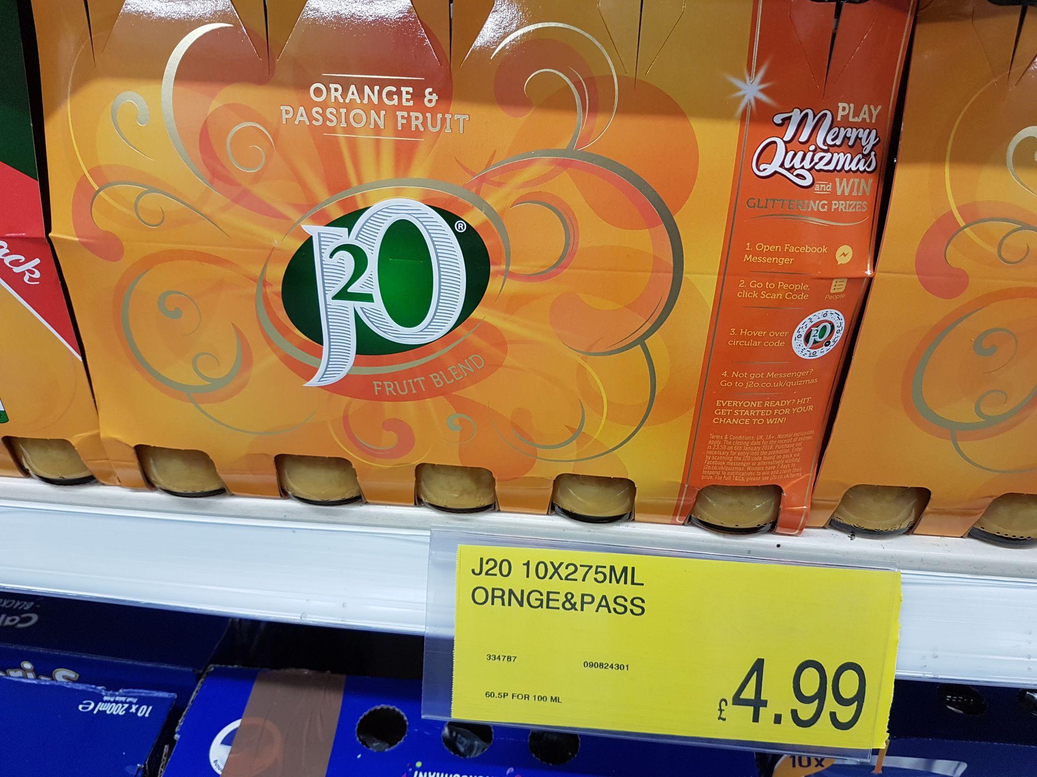 J20 10 pack £4.99 @ B&M