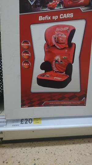 Disney cars lightning McQueen Nania Befix SP LX car seat £20 instore @ tesco