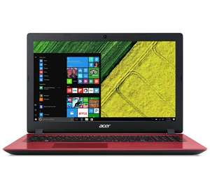 Acer 15.6 Inch i3 4GB 128GB Laptop - Red, £319.99 from argos