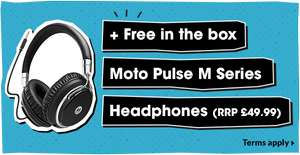 Free Moto Pulse M Headphones - RRP £49.99 From GiffGaff With Purchase of Moto C £59. and £45 TCB