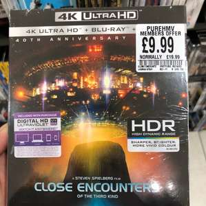 Close encounters of a third kind 4k ultra hd £9.99 @ hmv (pure members only)