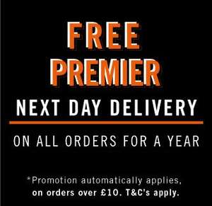 Free premier next day delivery for a year at Boohooman if you spend £10 - extended until midnight 28th