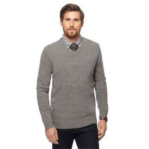 Hammond & Co. by Patrick Grant - Light grey V-neck Merino cashmere blend jumper in a gift box (Size XL left) £16.50 + Free Delivery with code SH4Z at Debenhams