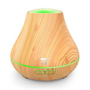 TaoTronics Essential Oil / Aroma Diffuser 400ml Wood Grain for Aromatherapy (Noiseless High & Low Mist Humidifier, 14 Hours Continuous Mist, PP Build, Low Water Protection) £16.99 Prime £20.98 Non Prime @ Amazon (Sold by Sunvalleytek-UK / FBA)
