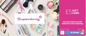£5 Gift Card of your choice with Orders Over £30 at Superdrug (via VoucherCloud)