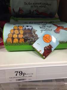 Gruffalo pencil case £0.79 in Home Bargains A5 Cannock store