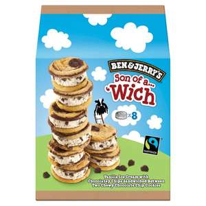Ben and Jerry's Son of a Wich 50p instore @ Tesco Lee Mill in Plymouth Devon
