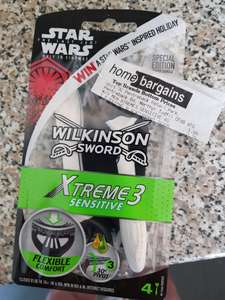 Wilkinson Xtreme 3 razors 4 pack 1.99 @ Home Bargains