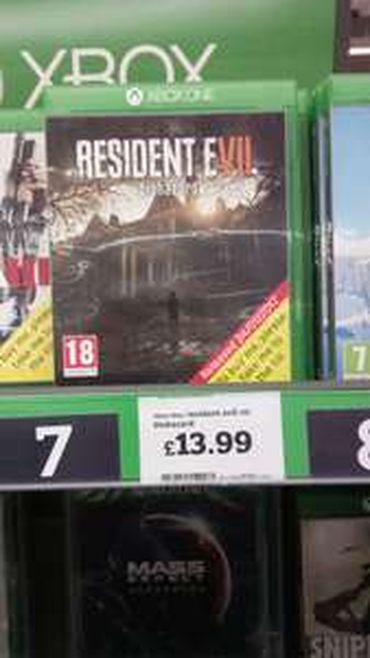 Resident evil 7 on xboxone £13.99 @ Sainsburys