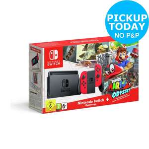 Nintendo Switch Console Bundle with Super Mario Odyssey £274.99 +free delivery/ free instant pickup @ Argos EBAY  (BACK IN STOCK)