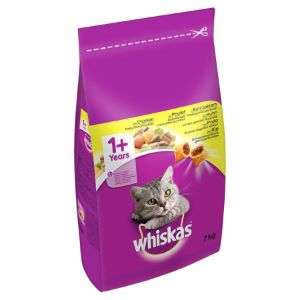 2 x 2kg bags of Whiskas dry cat food £8.00 @ Farmfoods