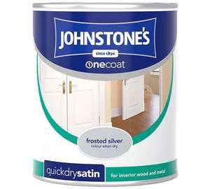 Johnston's quick dry satin one coat paint -frosted silver £3.49 @ Argos