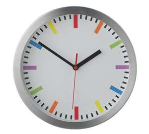 Home round wall clock - multi  £3.99 @ Argos