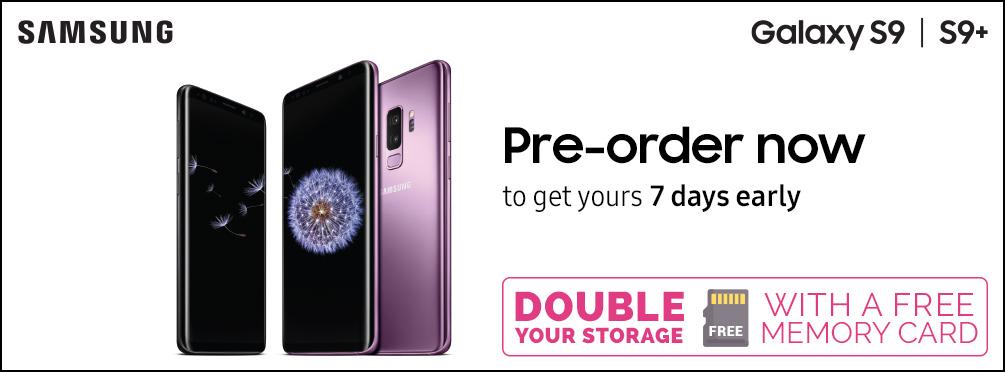 Samsung Galaxy S9+ black Unltd mins & 12GB for £32.00 (24m) - £968 - O2