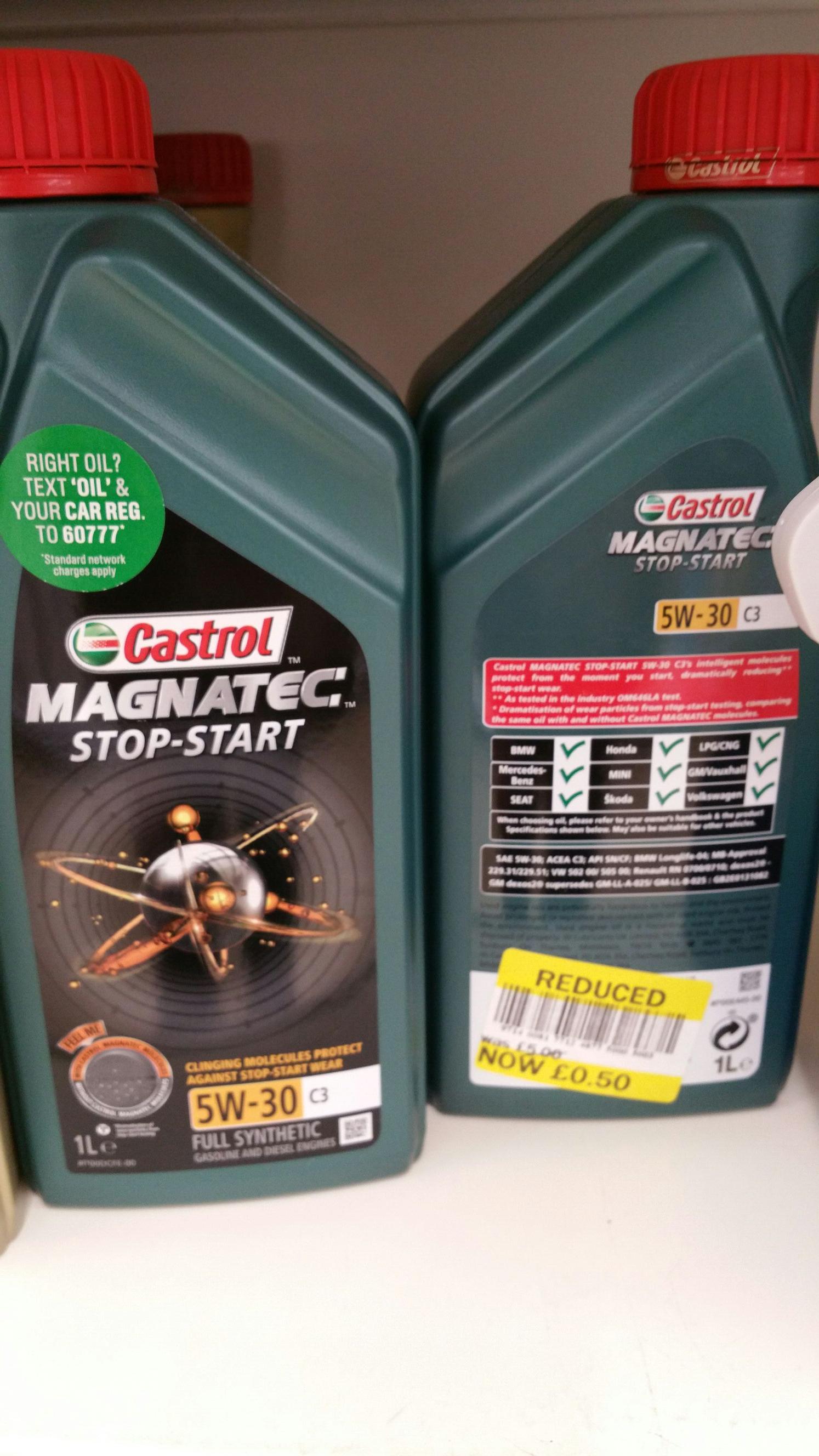 Castrol MAGNATEC 5W30 50p instore Tesco North Shields