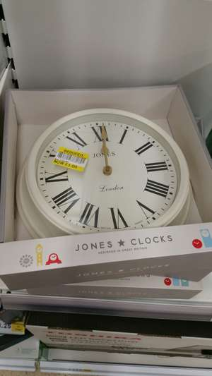 Jones  Clocks £1 instore In Tesco Silverlink