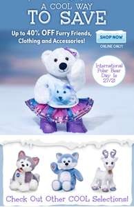 Up to 40% off Winter Sale @ Build a bear