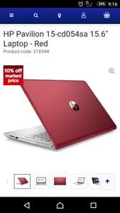 "HP Pavilion 15-cd054sa 15.6"" Laptop - Red  Product code: 216944  With  dvd drive good spec £386.99 @ Currys"