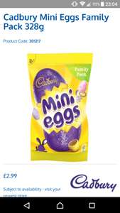 Cadbury mini eggs 328gm £2.99 @ b&m